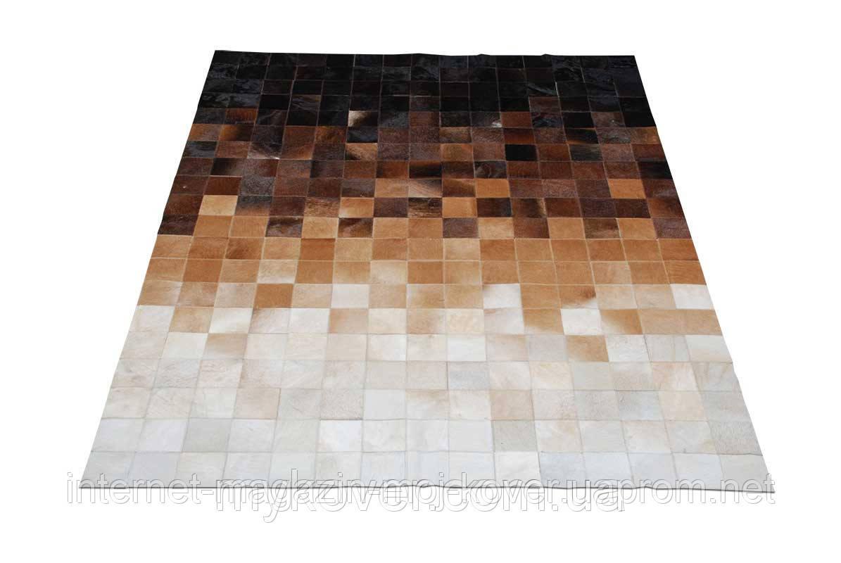 Современный ковер абстракция черно бело коричневого оттенка