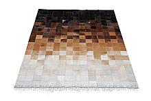 Сучасний килим абстракція чорно біло коричневого відтінку