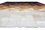 Современный ковер абстракция черно бело коричневого оттенка, фото 3
