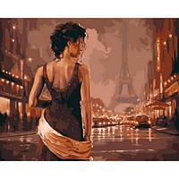 """Картина по номерам """"Париж в старинных тонах"""" [40х50см, С Коробкой]"""