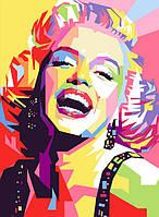 """Картина раскраска по номерам """"Улыбка Мерлин Монро"""" набор для рисования"""
