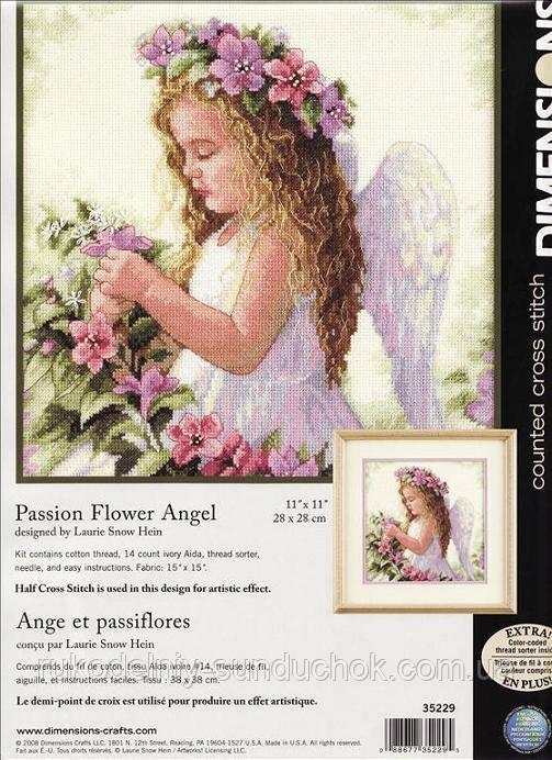 Набор для вышивания Dimensions 35229 Цветочный ангел Passion Flower Angel