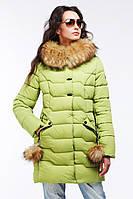 Женская зимняя куртка Гелана фисташка
