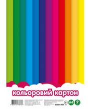 Картон А4 цветной 9л 55004