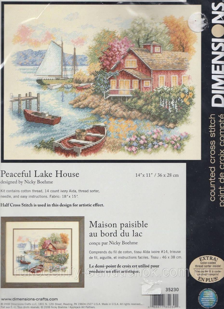 Набор для вышивания Dimensions 35230 Домик у озера Peaceful Lake House
