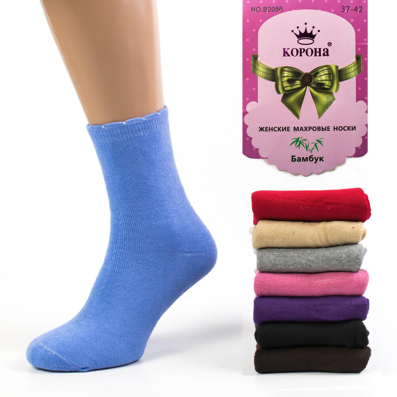 Женские махровые носки Korona B2056-2. В упаковке 12 пар