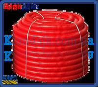 Гофрированная труба пешель 29-34 (красный)