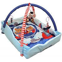 Коврик Baby Mix TK/Q3261CE-62104 Мишки-моряки blue