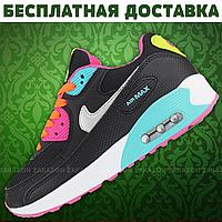 Мужские и Женские кроссовки Nike Air Max 90 (Black/Черные)