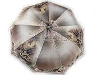 Зонт полуавтомат компактный (рисунок - кот)
