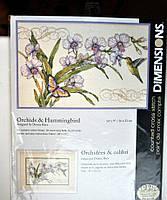 Набор для вышивания Dimensions 35237 Орхидеи и колибри Orchids and Hummingbird