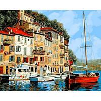 """Картина раскраска по номерам """"Средиземноморье"""" набор для рисования"""