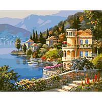 """Картина раскраска по номерам """"Цветущее побережье"""" набор для рисования"""