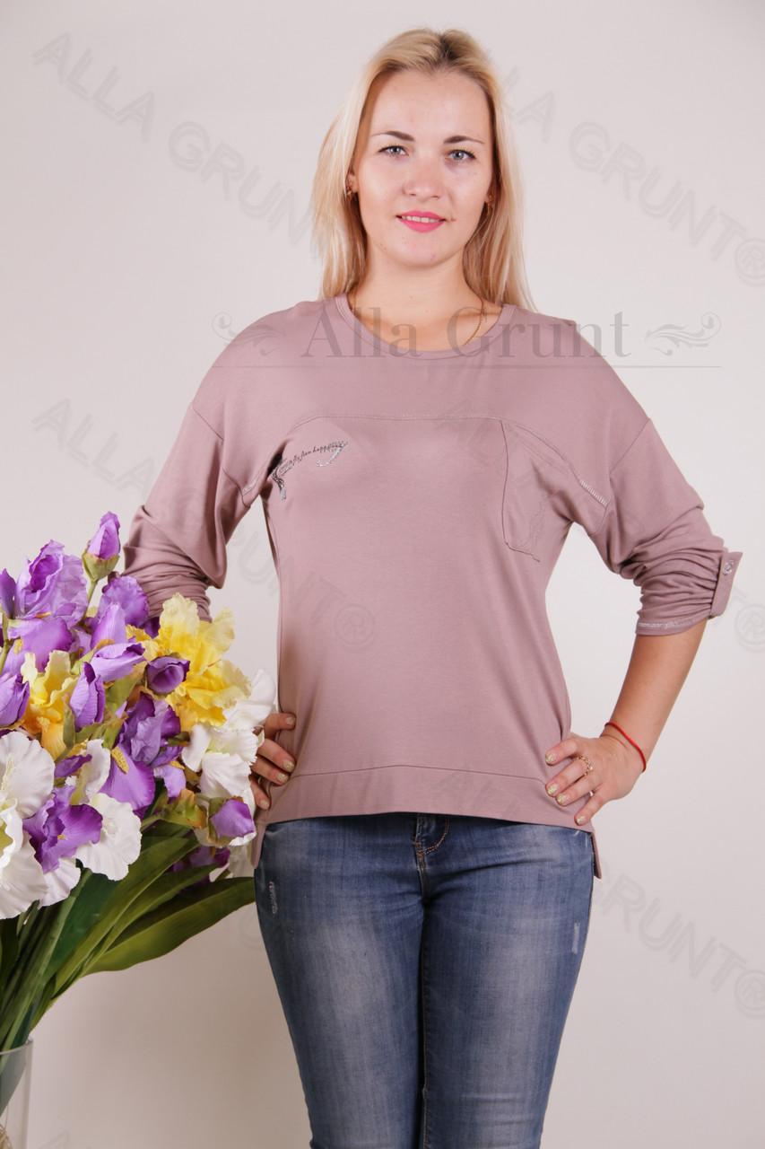 Блуза-туника трикотажная 428-осн822-137полубатал оптом от производителя Украина