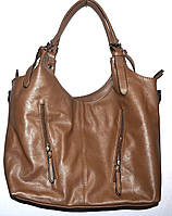 Женская коричневая сумка с двумя ручками 31*26