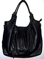 Женская черная сумка с двумя ручками 31*26