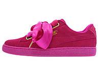 Женские кроссовки Puma Suede Heart Pink