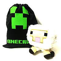 Мягкая игрушка Овечка из Minecraft 18 см.