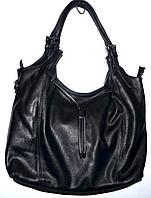 Женская черная сумка-торба с двумя ручками 31*26