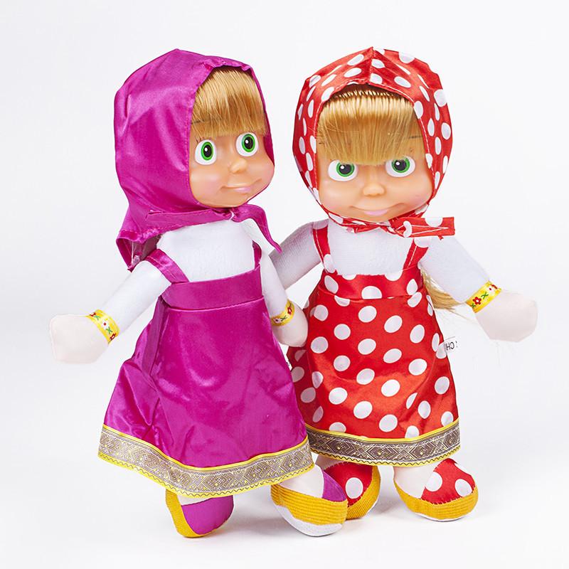 Мягкие плюшевые игрушки Маша и Медведь 27 см.