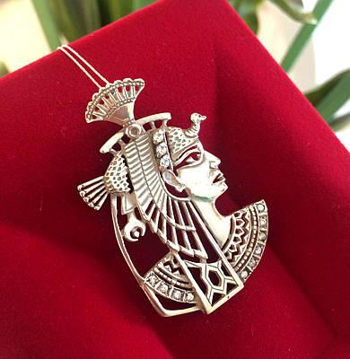 Підвіска Нефертарі Меренмут срібло 925 - Срібний кулон Нефертіті