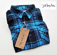 Мужская рубашка фланелевая JKL® (США) (L)/100% хлопок /Оригинал из США
