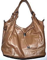Женская коричневая сумка-торба с двумя ручками 31*26