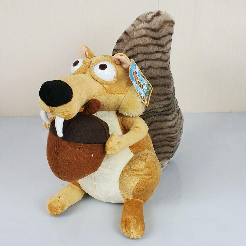 Мягкая игрушка Белка из мультфильма Ледниковый период - 22 см.