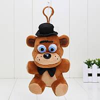 Мягкий Брелок 5 ночей с Фредди (Fnaf) - медведь Freddys 14 см.