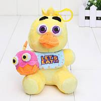 Мягкая игрушка Брелок Five Nights at Freddys (Fnaf) -  курица Chica 14 см.