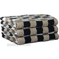 Махровое полотенце Cawoe Life style Karo 7047-37 kiesel 50х100 см