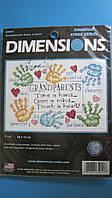 Набор для вышивания Dimensions 65011 Дедушке с бабушкой Grandparents Touch a Heart