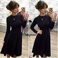 Женское расклешенное платье демисезон