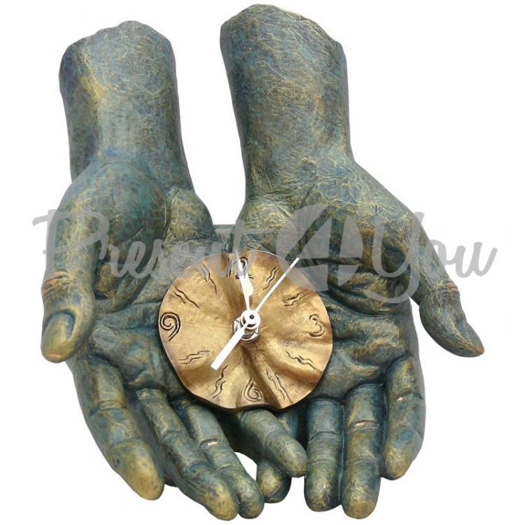 Скульптура Anglada «Время в твоих руках» 19х17х19 см. (199a)