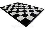 Купити килим шахова дошка, килим чорно біла клітка в Дніпропетровську, фото 2