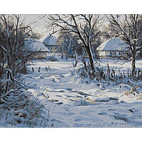 Картина по номерам Зима. Хатки 40х50см от бренда Babylon