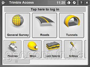 Trimble Access (Roads, Tunnels, Monitoring, Mines, Pipelines, Lend Seismic, ORI,