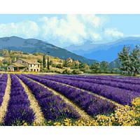 """Картина раскраска по номерам """"Прованский пейзаж"""" набор для рисования"""