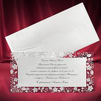Красивые кружевные пригласительные на свадьбу из перламутрового дизайнерского картона