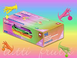 Перчатки нитриловые разноцветные (Style Tutti Frutti), 48пар/упак.