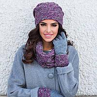 Зимняя женская шапка Lidia Kamea, фуксия меланж цвет