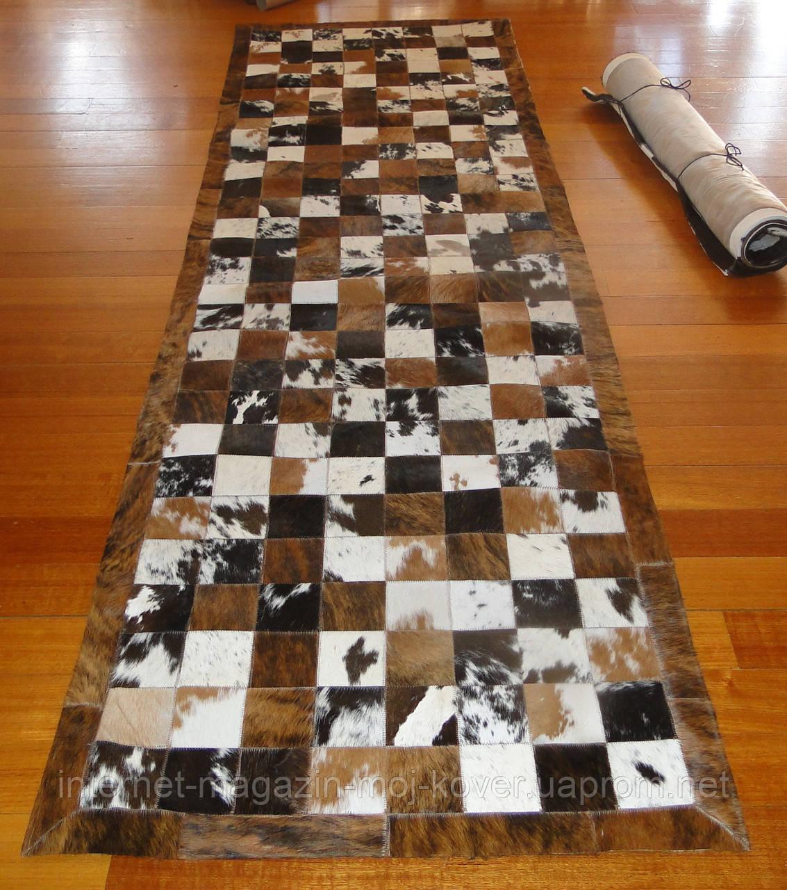 Довгі килими, доріжки 80х400, шкіра корови