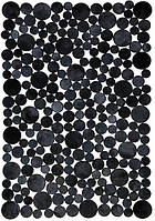 Купить ковры в Украине из черных кругов кожи теленка