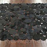 Купить ковры в Украине из черных кругов кожи теленка, фото 2