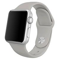 Ремешок силиконовый для Apple Watch 42mm. Fog (Серый)