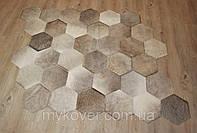 Ковры соты песочного цвета из шкуры быка