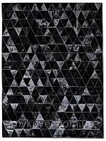 Ковры из сшитых треугольников, современные ковры, тонкие ковры, фото 1