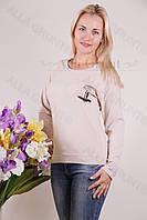 Блуза-туника трикотажная 401-осн703-114 норма оптом от производителя Украина