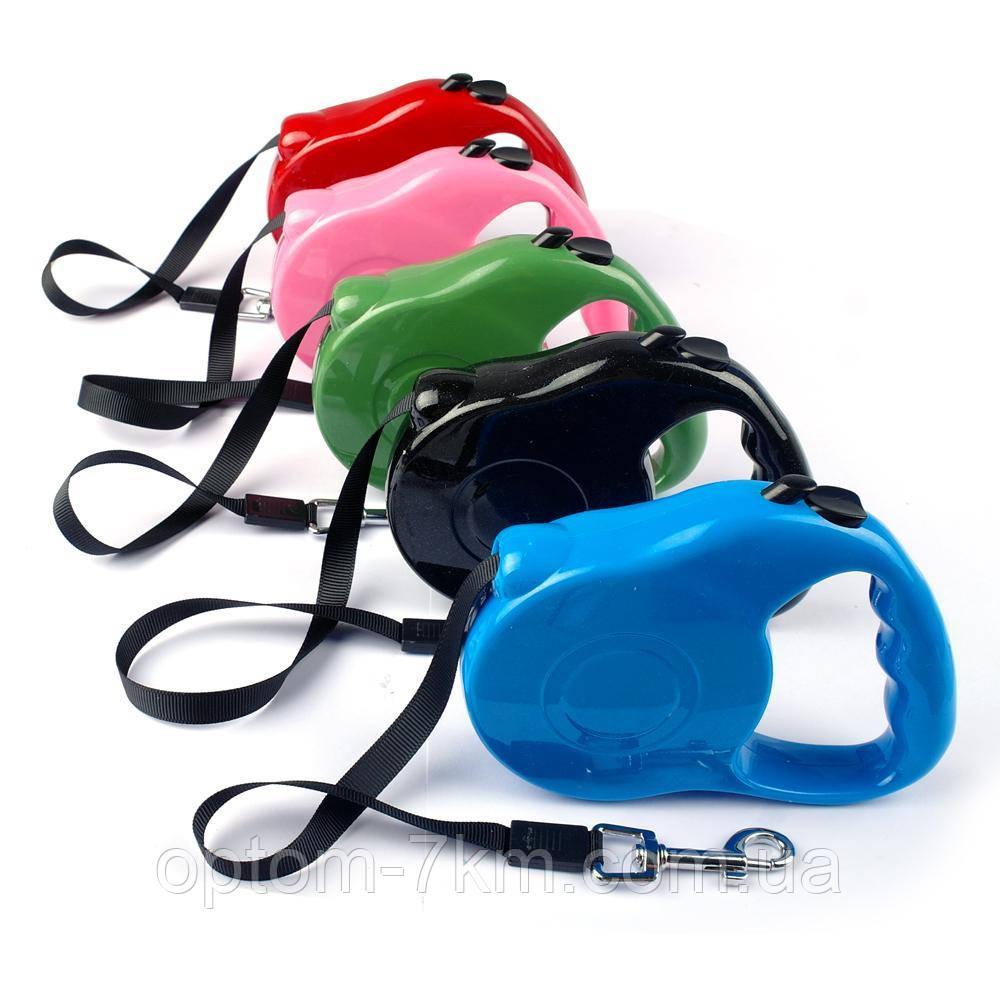 Поводок-рулетка для собак 3м. Retractable Dog Leash H