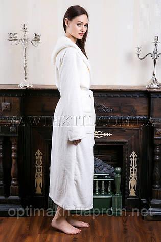 8242748df8dec Женский махровый халат длинный Wild Love белый - купить по лучшей ...